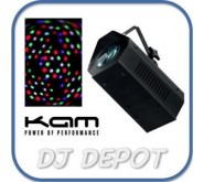 KAM Minicolour 1 LED Moonflower RGBW Disco Light