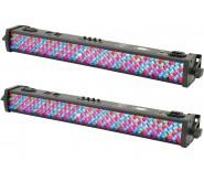 QTXlight 0.5m DMX LED Lighting Bar Uplighter Pack of Two