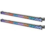 QTXlight 1m DMX LED Lighting Bar Uplighter Pack of Two
