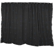 1 x 2m Black Star Cloth with 36 Blue LEDs
