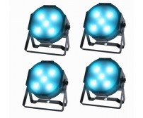 Pack of Four Kam Powercan 15 RGB 15 Watt LED Par Can Uplighters