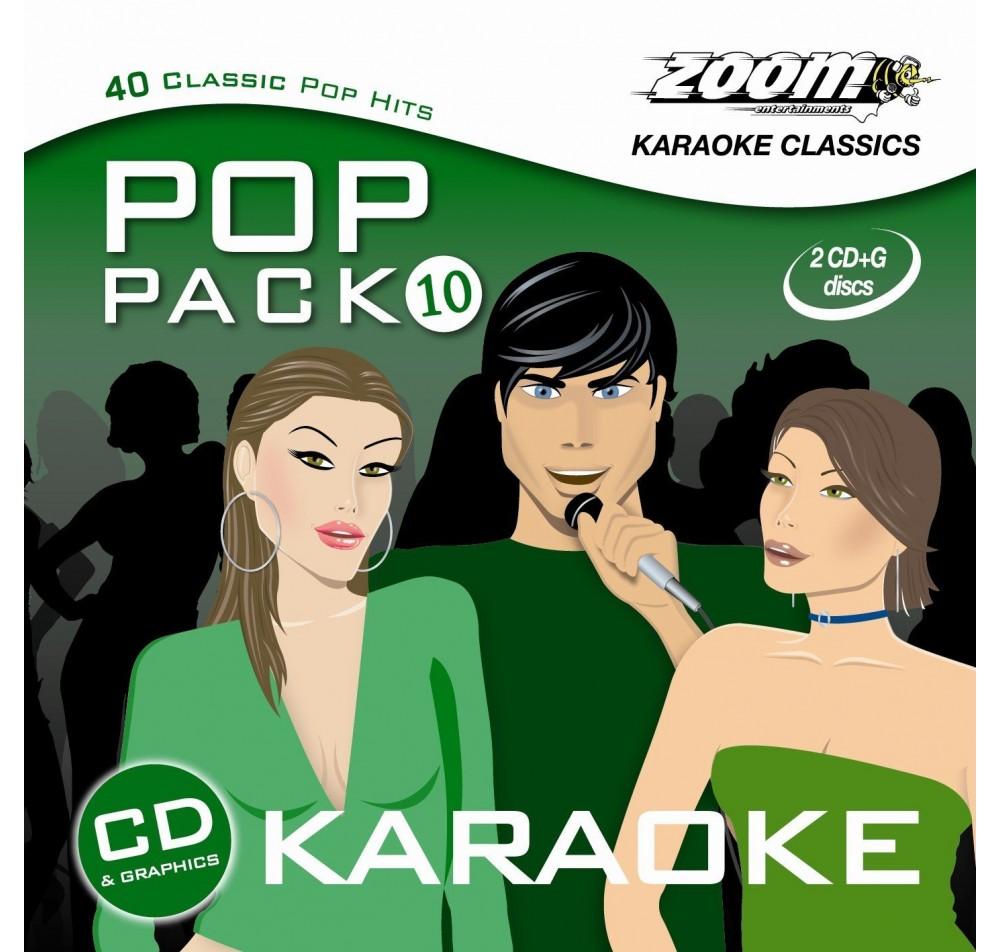 Zoom Karaoke Pop Pack 10 Girls & Boys 2 Disc Karaoke CDG Set